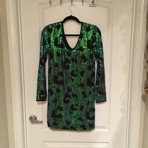 UO Leopard Sequin Dress Tunic